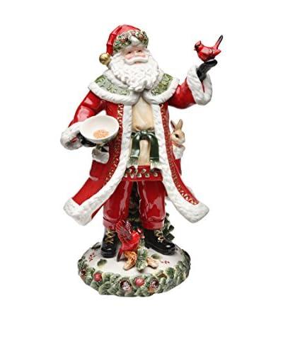 Cosmos Evergreen Holiday Santa Figurine