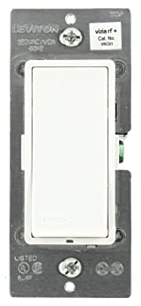 Vizia RF + 1-Button Scene Controller/Virtual Switch Remote for Multi-Location Control, White/Ivory/ Light Almond, VRCS1-1LZ