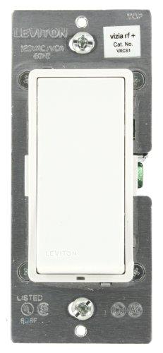 Leviton Vrcs1-1Lz Vizia Rf + 1-Button Scene Controller/Virtual Switch Remote For Multi-Location Control, White/Ivory/ Light Almond