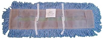 "Zephyr 23048 Blue Blended Yarn Disposable Dust Mop Head, 48"" Length x 5"" Width (Pack of 6)"