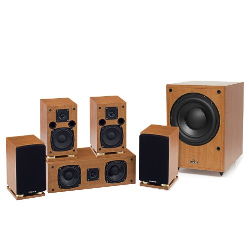 Fluance Sx Series 5.1 Compact Home Theater Surround Sound Speaker System With Db150 Powered Subwoofer