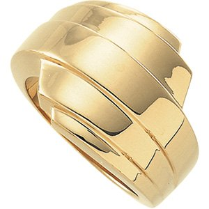 14K Yellow Gold Fashion Band Size: 12