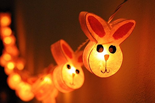2 Sets Of Lovely Pink Rabbit Set For Kid Bedroom Lighting String 20 Yarn Bulb Lights Set Hanging Lamp Home Decoration, Patio, Living Room, Yard & Garden Indoor And Outdoor front-1034654