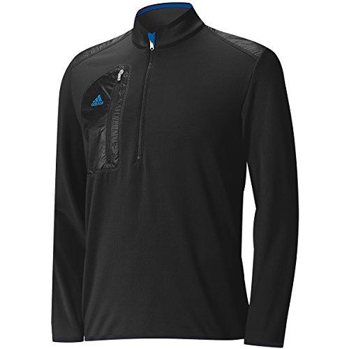2015 Adidas Sport Performance ClimaHeat Half-Zip Layering Top Mens Lightweight Golf Cover-Up Black XL