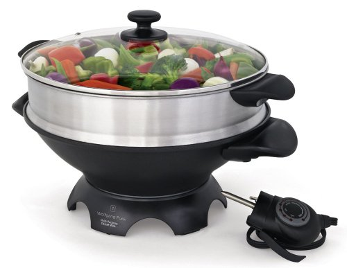 Why Should You Buy Wolfgang Puck 6-Qt. Electric Gourmet Wok with Tempered Glass Lid and Steaming Tra...