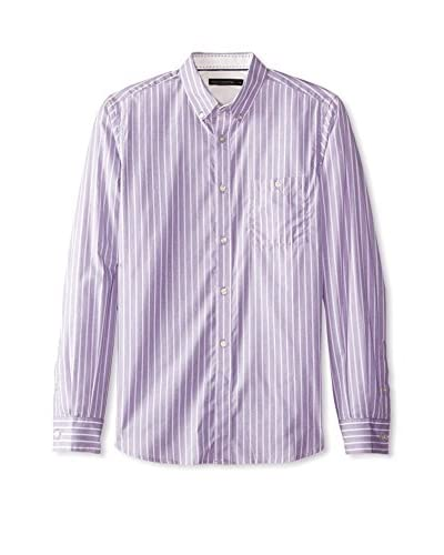French Connection Men's Uni Broad Stripe Long Sleeve Shirt