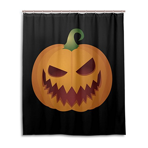 [Bath Shower Curtain 60x72 Inch,Happy Halloween Cute Ghost Spooky Cemetery Bat Pumpkin Witch Spiderweb Design 89,Waterproof Polyester Fabric Bathroom] (Cute Halloween Ghost Clip Art)