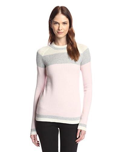 Kier & J Women's Chunky Stripe Baseball Sweater