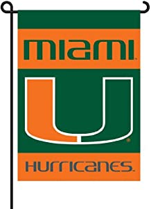 Buy NCAA Miami Hurricanes 2-Sided Garden Flag by BSI