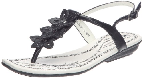 Hush Puppies Women's Vicky Black Thong Sandals