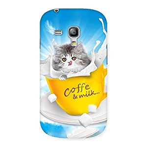 Delighted Kitty Coffee Multicolor Back Case Cover for Galaxy S3 Mini