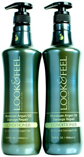 Caroline Chu Moroccan Argan Oil Damage Repair Conditioner, Twin Pack., 67.6 Fluid Ounce