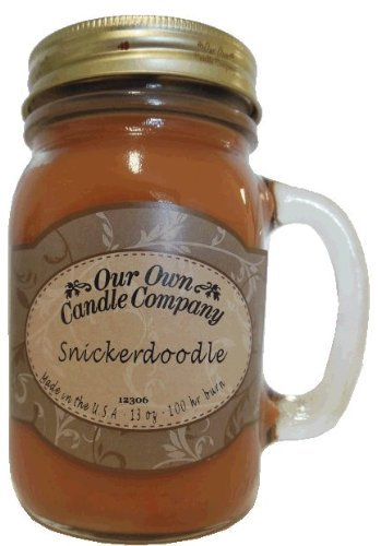 13oz SNICKERDOODLE Scented Jar Candle (Our Own Candle Company Brand) Made in USA - 100 hr burn time