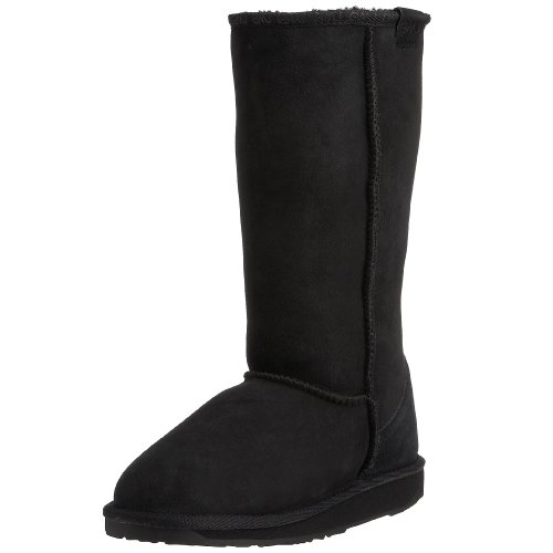 Emu Australia Women's Stinger Hi Black Mid Calf Boots W10001 3 UK, 35/36 EU, 5 US