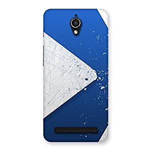 Enticing Blue Paint Work Job Back Case Cover for Zenfone Go