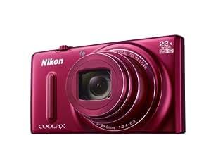 """Nikon Coolpix S9600 Appareil photo numérique compact 16 Mpix Écran LCD 3"""" Zoom optique 22X Rouge"""