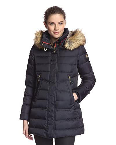 Vince Camuto Women's Hooded Puffer Coat with Faux Fur Trim
