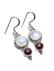 Admyro 2015 Designer Earring-925 Silver Earring-Netural Gemstone Earring-Latest Design Earring-Partywaer Earring-AZE979