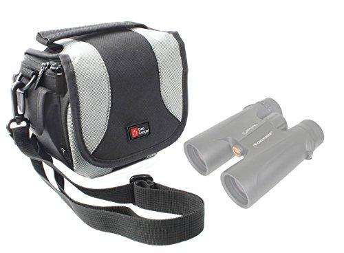 Housse de protection DURAGADGET pour SUMMIT jumelles 8 x 21 10 x 50 mm et RXYYOS HR-2350 30x60 - noir/gris et bandoulière détachable