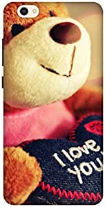 The Racoon Grip teddy loves you hard plastic printed back case / cover for Gionee S6