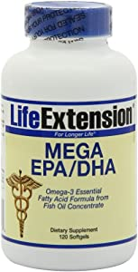 Life Extension Mega EPA/DHA, Softgels, 120-Count from Life Extension