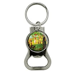 Graphics and More A Sunday Afternoon On Island Of La Grande Jatte - Georges Seurat Bottle Cap Opener Keychain (KB0462)