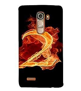 PrintVisa 2 Number Fire Design 3D Hard Polycarbonate Designer Back Case Cover for LG G4 Mini