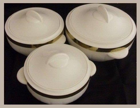3pc Hot Pot Insulated Food Warmer Casserole Hotpot thermal