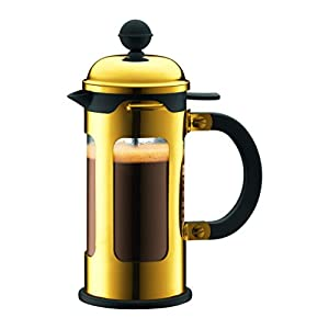 Gold French Press Coffee Maker : Amazon.com: Bodum Chambord 3-Cup French Press 0.35-Litre Coffee Maker, 12-Ounce, Gold Chrome ...