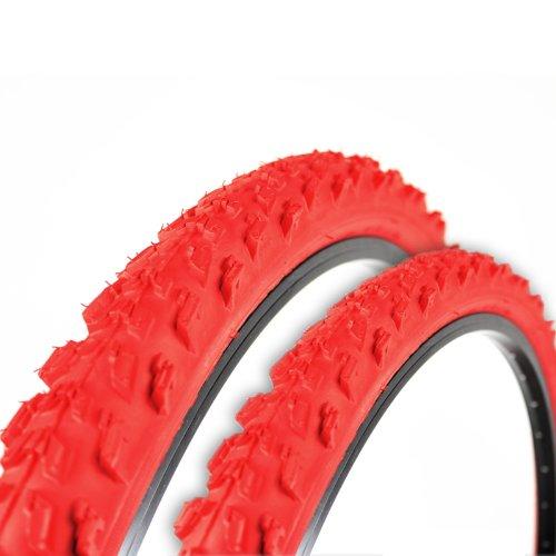 2x-Kenda-Fahrrad-Reifen-26-x-195-50-559-rot-K829-K-829-MTB-A185