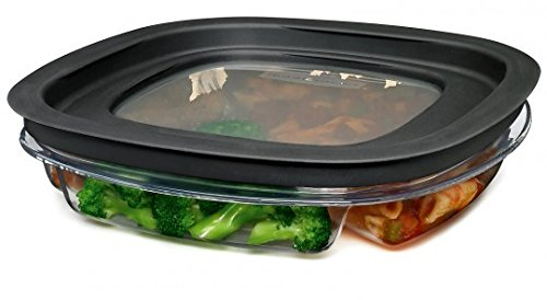 Rubbermaid FG7K75TRCHILI 4.3-Cup Divided Premier Food Storage Container (Rubbermaid Microwave Plates compare prices)