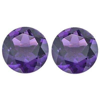 3.50 Cts of 8 mm Round Matching Loose Amethyst