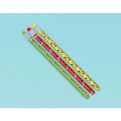 Imagen de Lápices de Angry Birds (12) Fiesta (Rojo)
