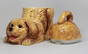 Golden Retriever Ceramic Cookie Jar by PACIFIC GIFTWARE