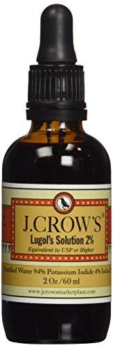 j crow 39 s d 39 iode lugol 2 oz 1 pack partir de vente commander acheter achat j crow. Black Bedroom Furniture Sets. Home Design Ideas