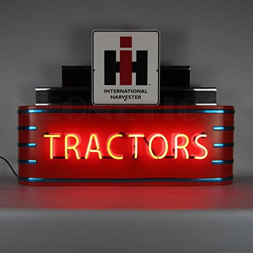 Neonetics 9ADIHT Art Deco Marquee Case ih Tractors Neon Sign in Metal Can