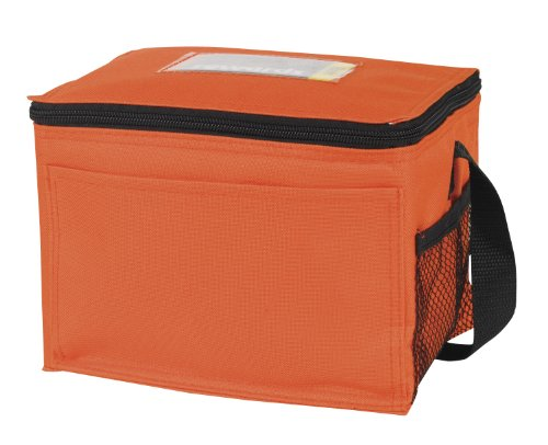 6-can Insulated Cooler Bag W Id Holder, Orange by Bags for Less (Orange Cooler Bag compare prices)