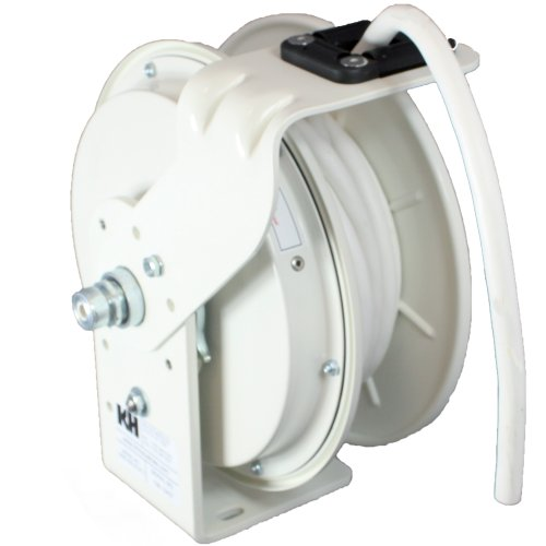 Kh Industries Rtb Series Reeltuff Power Cord Reel, 12/3 Sjow White Cable, 20 Amp, 25' Length, White Powder Coat Finish