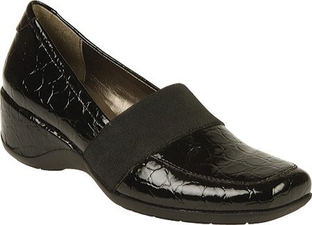 Naturalizer Women's Granbury Slip-On,Black Croco Shiny,10 M US