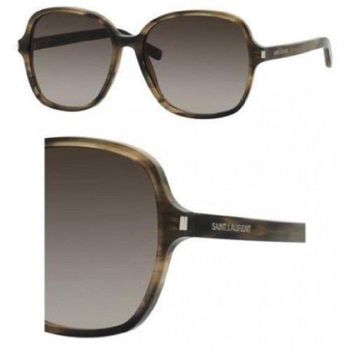 Yves Saint Laurent Yves Saint Laurent Classic 8/S Sunglasses-0WT3 Horn (HA Brown Grad Lens)-57mm