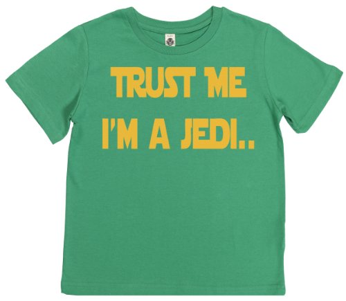 Phunky Buddha - Trust Me I'M A Jedi Children'S Top 5-6 Yrs - Green front-693408