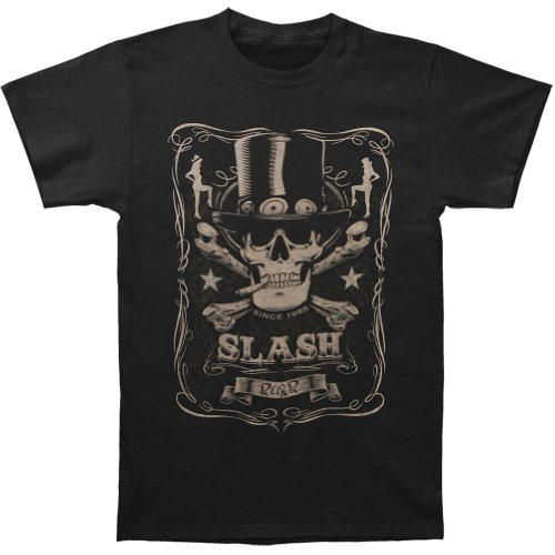 Licensed Men's Guns N Roses Bottle Of Slash Slim Fit T-shirt - S to XXL