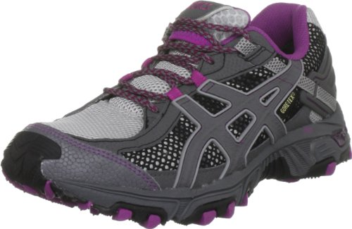 ASICS Women's Gel Trabuco G-tx Metal Grey/Storem/Orchid Trainer T1D5N 9674 5 UK