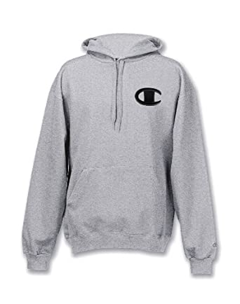 Champion Super Hood® Fleece Men`s Hoodie with Big Raised Embroidered C Logo by Champion