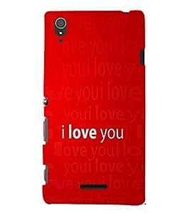 Fuson Premium Printed Hard Plastic Back Case Cover for Sony Xperia T3