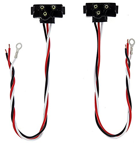 """Super Light - Set Of Standard Stop / Turn / Tail Or Turn Signal / Parking Light Power Plugs With 3 Prong Plug & 11"""" Lead Wires. For Trucks, Trailers & Rv'S"""