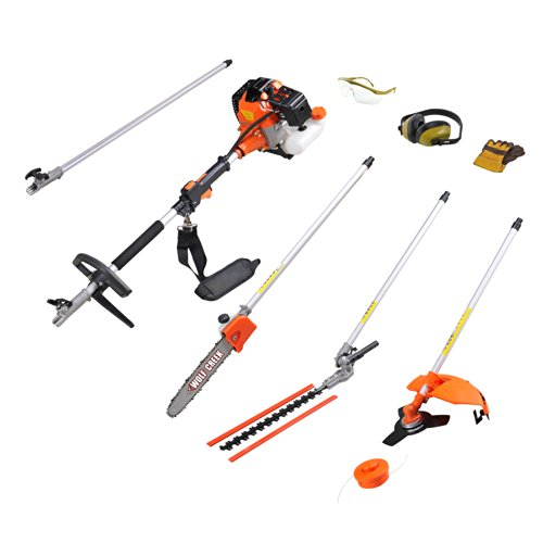 wolf creek multi tool 58cc 2 stroke petrol 5 in1 long reach hedge trimmer strimmer pruner. Black Bedroom Furniture Sets. Home Design Ideas