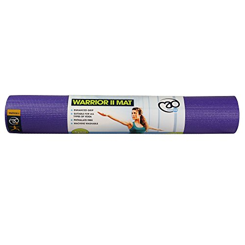 Fitness Mad Warrior II Plus Yoga Mat Purple 6mm (L Purple)