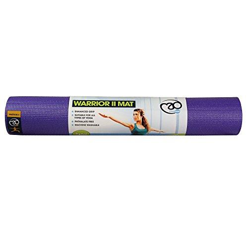 Fitness Mad Warrior II Plus Yoga Mat Purple 6mm (L Purple)