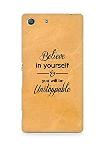 AMEZ believe in yourself and you will be unstoppable Back Cover For Sony Xperia M5